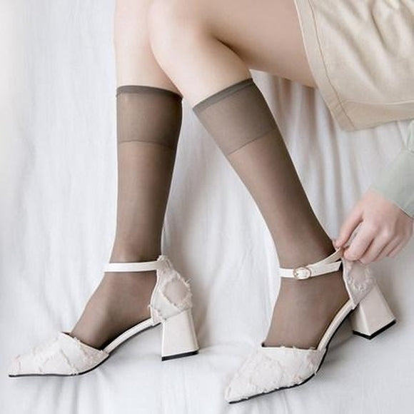 Summer Crystal Transparent Breathable Ultra-thin Ankle Invisible Socks - chicstocking