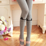 Cute Cartoon Crown Cat  Stockings Pantyhose - chicstocking