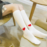 Cotton Lolita Love Heart Thigh High Stockings - chicstocking