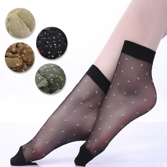 Cool Breathable Summer Style Sexy Dot Nylon Women Socks - chicstocking