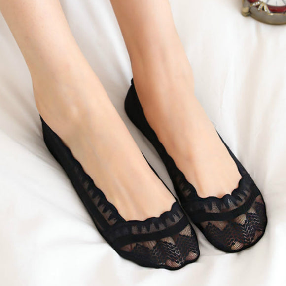 Non-slip Lace Shallow Mouth Ankle Invisible Socks