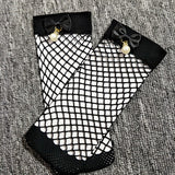 Bowknot Pearl Fishnet Socks - chicstocking