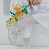 Lace Hollow Out Leg High Lolita Women Socks