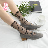 Sexy Lace Star Dot Snowflake Socks