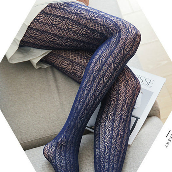 Sexy Lace Hollow Out Over Knee Stockings Pantyhose