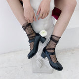 Summer Transparent Ultra-thin Polka Dot Tulle Chiffon Women Socks