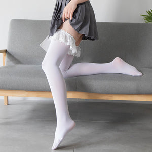 Classic Vintage Lace Velvet Tights Stockings Pantyhose