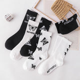 Cartoon Cute Butterfly Print Long Socks