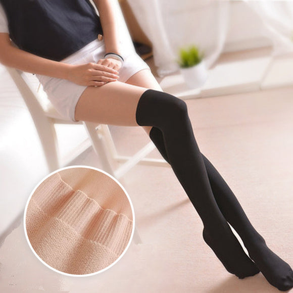 360D Solid Color Patchwork Stockings Pantyhoses
