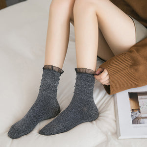Lacing Glitter Women Socks - chicstocking