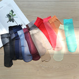 Solid Color Silk Socks - chicstocking
