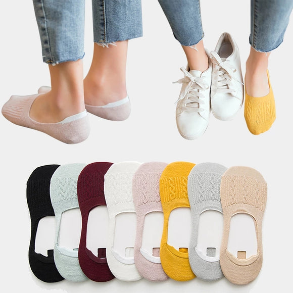 Summer Solid Color Softable Invisiable Ankle Socks