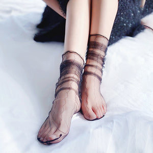 Sweet Stripe Silk Socks - chicstocking