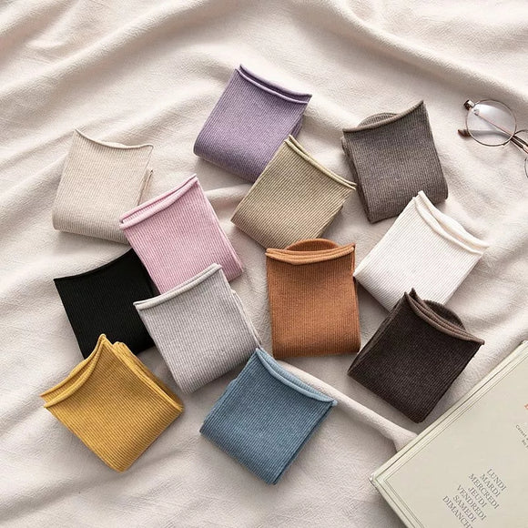 Loose Solid Colors Elastic Breathable Long Socks
