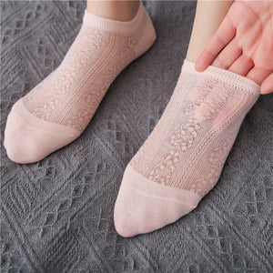 Solid Color Ankle Invisible Boat Socks - chicstocking