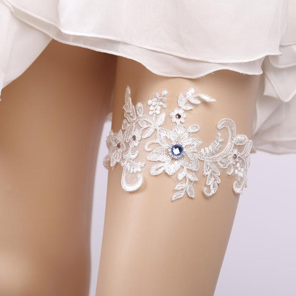 Lace Floral Sexy Bow Lingerie Wedding Bridal Bowknot Garter - chicstocking