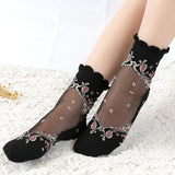 Ultrathin Lace Short Socks - chicstocking