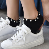 Candy Color Imitation Pearl Cotton Socks - chicstocking
