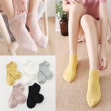Candy Color Mesh Cotton Ankle Socks - chicstocking