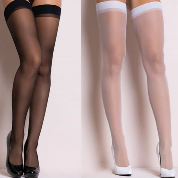Sexy Transparent Silk Thigh High Women Stockings