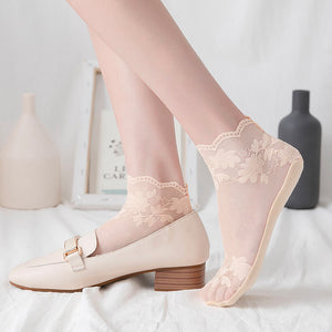 Lace Cotton Bottom Ankle Invisible Socks