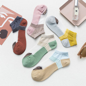 Summer Ice Silk Ultra-thin Shallow Mouth Non-slip Invisible Ankle Socks - chicstocking