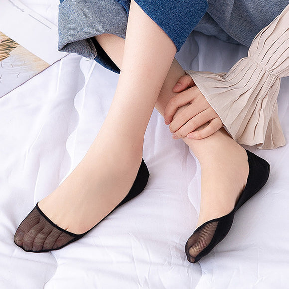 Women Mesh Cotton No Show Ankle Invisible Socks