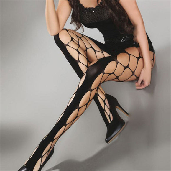 Sexy Fishnet Thigh High Nylon Stockings Elastic Pantyhose - chicstocking