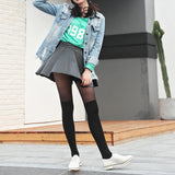 Solid Color Patchwork Velvet Thigh High Stockings
