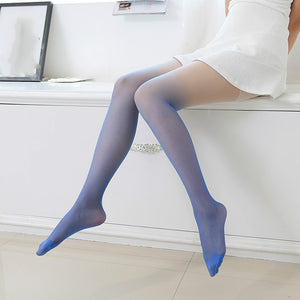 Anti-hook Wire Candy Color Gradient Ultra Thin Lace Elasticity Mesh Stockings Pantyhose