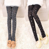 Winter Warm Solid Color Open Toe Stockings Pantyhose - chicstocking