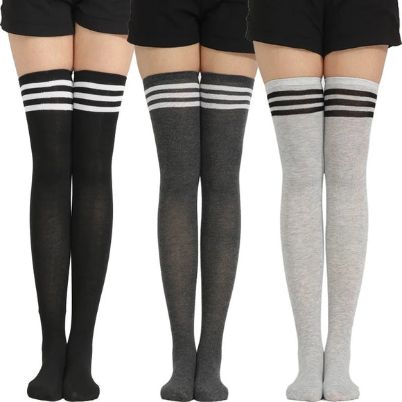 Women Over Knee Thigh High Cotton Hose Stockings