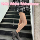 Fashion Sexy Elastic Printing Letter Stockings Pantyhose