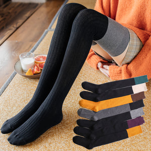 Solid Color Warm Women Thigh High Stockings - chicstocking