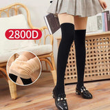 2800D Solid Color Patchwork Stockings Pantyhoses - chicstocking