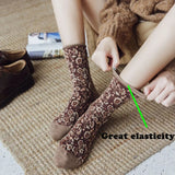 Retro Frilly Flowers Embroidered Cotton Socks