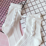 Lolita Tie Hollow Socks - chicstocking