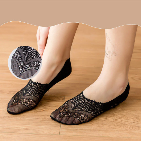 Non-slip Lace Ankle Invisible Socks
