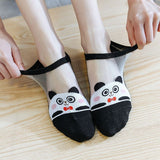 Cartoon Cute Animal Glass Silk Ankle Invisible Socks - chicstocking