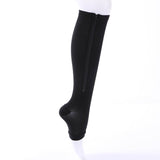 Winter Warm Burn Fat Zipper Compression Slim Prevent Varicose Veins Women Leg Warmer