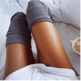 Winter Warm Women Knit Crochet Cotton Soft Thick Long Stockings Thigh-High Leggings - chicstocking