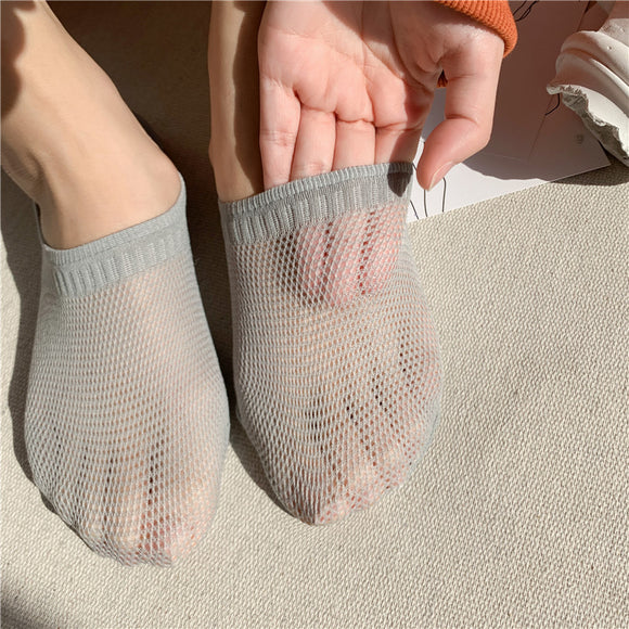Comfortable Non-slip Cotton Mesh Invisible Women Socks