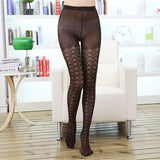 Winter Solid Color Elasticity Hollow Fishnet Stockings Pantyhose Leggings - chicstocking