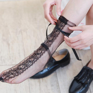 Lace Bowknot Women Socks - chicstocking