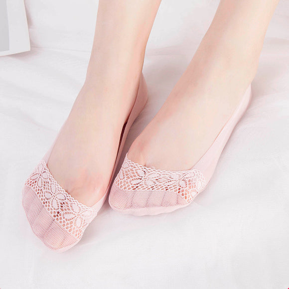 Summer Ultra Thin Lace Four Leaf Clover Mesh Low Cut Socks - chicstocking