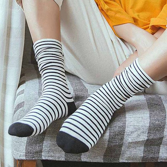 Candy Color Striped Loose Slouch Socks - chicstocking