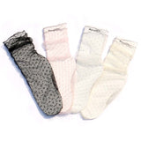 Summer Breathable Transparent Ultra-thin Polka Dot Mesh Women Socks