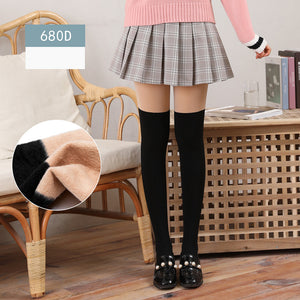 680D Solid Color Patchwork Stockings Pantyhoses - chicstocking