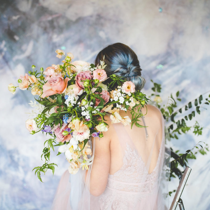 A Gray and Lavender Inspiration Shoot by Lissa Chandler | Featuring Hand Painted Backdrops 1 & 2!