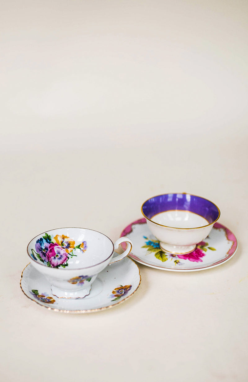Mismatched Teacup Set